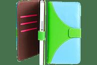 V-DESIGN NFC 002 , Bookcover, Samsung, Galaxy S7, Kunstleder, Grün/Blau