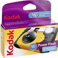 KODAK Power Flash 27+12 Einwegkamera, Gelb, Schwarz