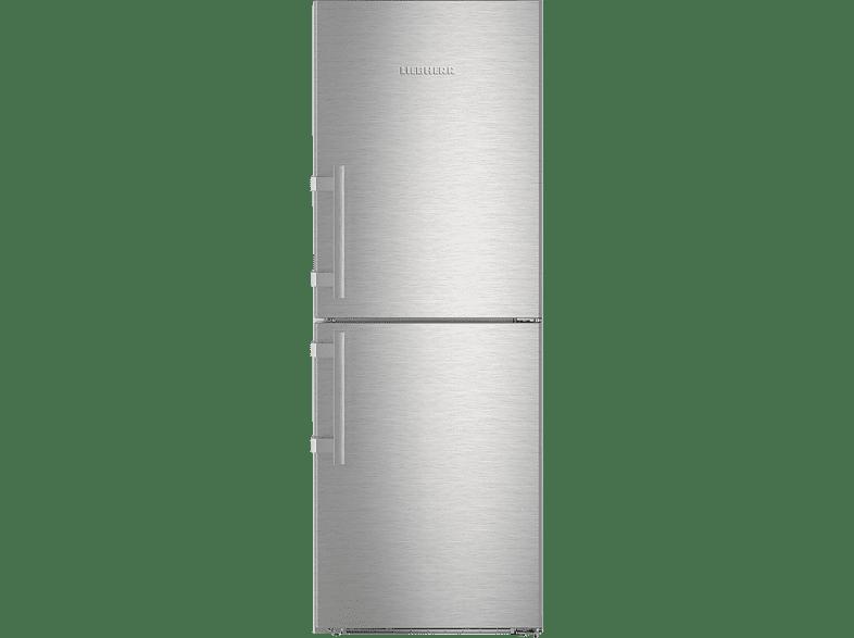 LIEBHERR Liebherr CNef 3715 Kühl-Gefrier-Kombination NoFrost  Kühlgefrierkombination (A+++, 155 kWh/Jahr, 1650 mm hoch, Edelstahlfront)