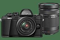OLYMPUS OM-D E-M10 Mark II  Systemkamera 16.1 Megapixel mit Objektiv 14-42 mm, 40-150 mm f/3.5-5.6, 7,6 cm Display Touchscreen, WLAN