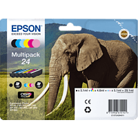 EPSON Original Tintenpatrone Elefant Multipack mehrfarbig (C13T24284011)