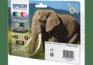 EPSON Tintenpatronen Multipack 24 XL Schwarz + Farbig (C13T24384011)