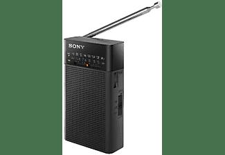 Radio portátil - Sony ICFP26.CE7, AM/FM, Indicador LED, Negro