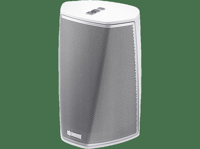 DENON HEOS 1 HS 2 - Streaming Lautsprecher (App-steuerbar, Bluetooth, 802.11a/b/g/n/ac, Silber/Weiß)