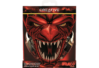 CREATIVE 51EF0700AA001 HS-880 Draco, Over-ear Gaming Headset Schwarz/Rot
