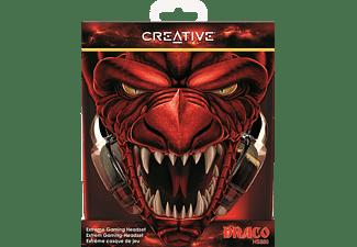 CREATIVE 51EF0700AA001 HS-880 Draco, Over-ear Gaming Headset Schwarz/Rot