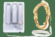 ISY ILC 540 Lichterkette,  Transparent,  Warmweiß