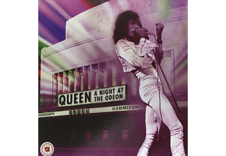"Queen - A Night At The Odeon – Hammersmith 1975 (Limited Super Deluxe Edition) (CD+DVD+SD Blu-ray+12""Single)  - (Blu-ray + CD)"