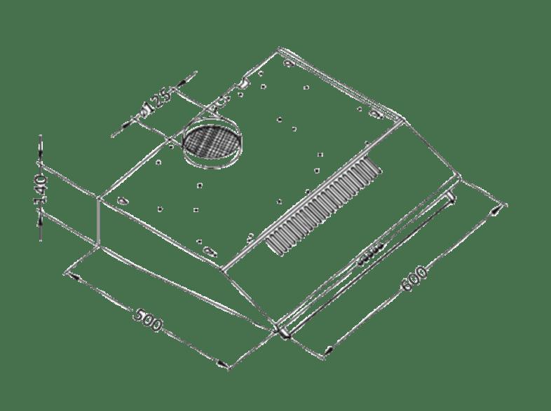 Unterbauhaube PKM UBH 3001 X Edelstahl