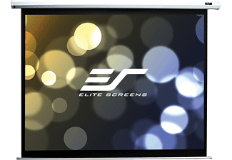 ELITE SCREENS ELECTRIC100V Motorleinwand, Weiß