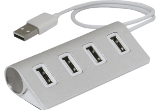 ULTRON UH-401, USB Hub, Silber