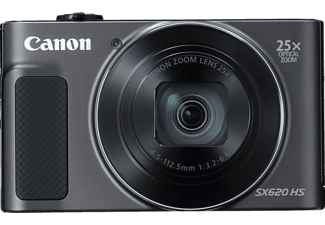 CANON Powershot SX620 HS Kit Digitalkamera Schwarz, 20.2 Megapixel, 25x opt. Zoom, TFT, WLAN