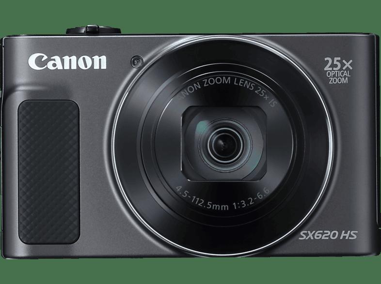 CANON PowerShot SX620 HS Digitalkamera Schwarz, 25fach opt. Zoom, LCD TFT , WLAN