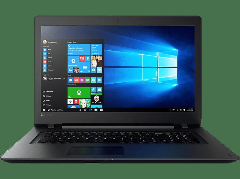 LENOVO ideapad 110, Notebook mit 17.3 Zoll Display, A8 Prozessor, 4 GB RAM, 1 TB HDD, AMD Radeon, integriert, Schwarz