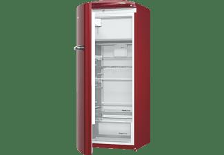 GORENJE ORB153R-L Kühlschrank (E, 1540 mm hoch, Rot)