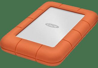 LACIE Rugged Mini, 4 TB HDD, 2,5 Zoll, extern, Silber/Orange