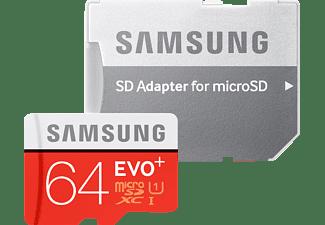 SAMSUNG EVO+, Micro-SDHC Speicherkarte, 64 GB, 80 MB/s