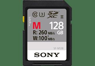 SONY Speicherkarte SF-M Series R260/W100 SDXC 128GB, UHS-II U3, Class 10 (SFG1M/SF-M128)