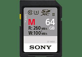 SONY Speicherkarte SF-M Series R260/W100 SDXC 64GB, UHS-II U3, Class 10 (SF64M/SF-M64)