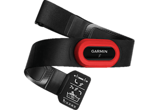 GARMIN 010-10997-12 HRM-RUN BLACK/RED - Herzfrequenz Brustgurt (Schwarz)