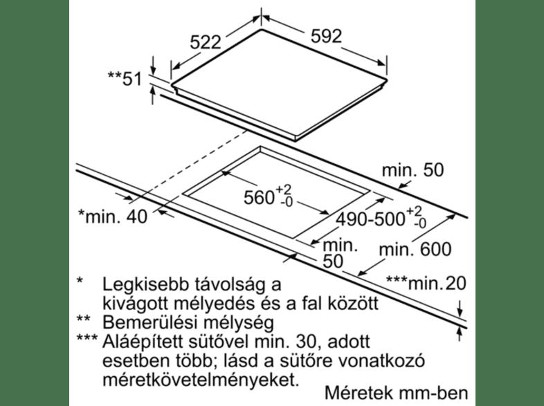 PIF 651 FC 1 E beépíthető kerámia főzőlap