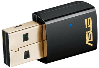 Adaptador Wi-Fi USB - ASUS USB-AC51, USB2, Dual Band AC600, Negro