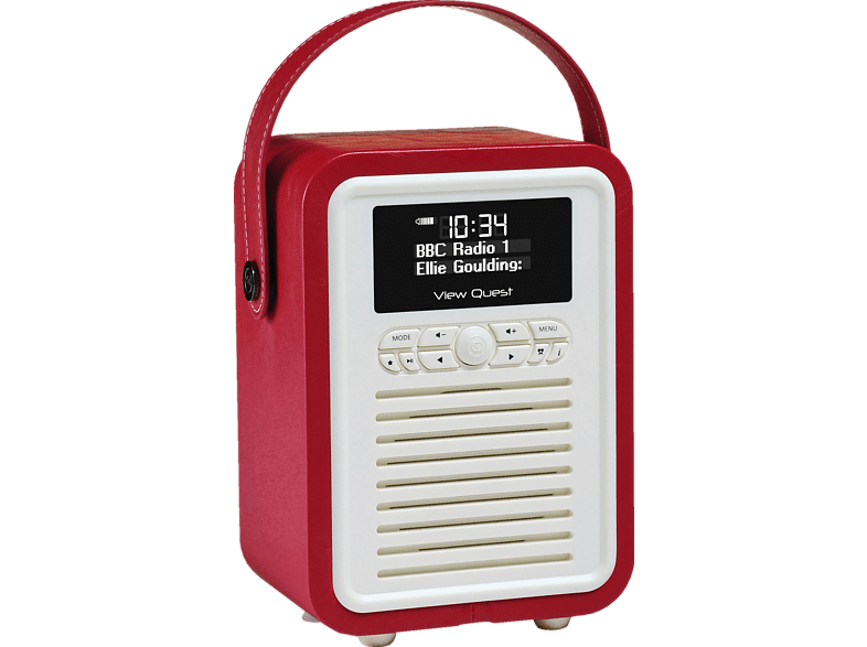 VQ Retro Mini Digitalradio (FM, DAB, DAB+, Rot)