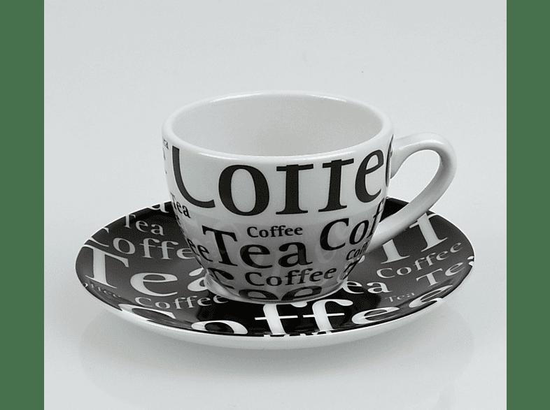 KÖNITZ 17 5 A08 1000 Coffee Bar - Schrift 8-tlg. Kaffee-Tassen-Set