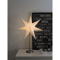 KONSTSMIDE 2996-230 LED Papierstern,  Weiß/Silber,  Warmweiß