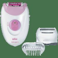BRAUN Silk-epil 3 3-270 Epilierer Weiß/Pink