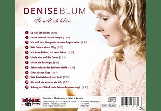 Denise Blum - So will ich leben  - (CD)
