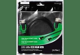 VIVANCO 4K HDMI Kabel, 0,75m, High Speed, grün