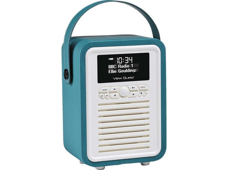 VQ Retro Mini Digitalradio (FM, DAB, DAB+, Blaugrün)