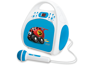 SILVA Junior ONE Kinder Radio mit CD und Mikrofon, blau