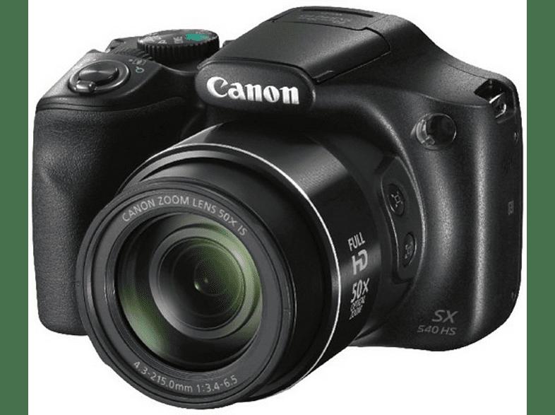 CANON Powershot SX540 HS Bridgekamera Schwarz, 20.3 Megapixel, 50x opt. Zoom, TFT-LDC, WLAN