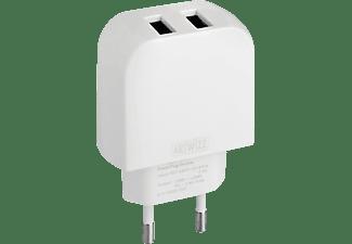 ARTWIZZ 0029-1767 PowerPlug Double USB-Ladegerät Universal, Weiß