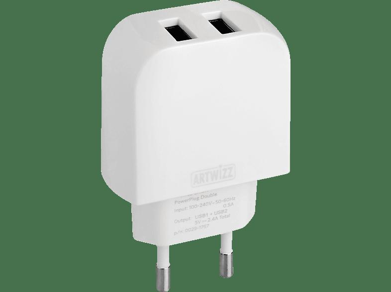 ARTWIZZ 0029-1767 PowerPlug Double USB-Ladegerät, Weiß
