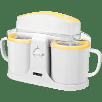UNOLD 48850 Duo Eismaschine (12 Watt, Weiß/Gelb)