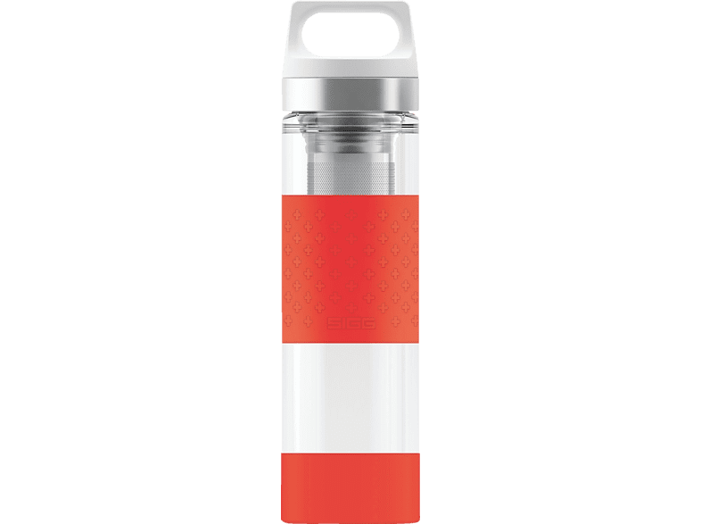 SIGG 8555.9 Hot & Cold Glass Red  Isolierflasche
