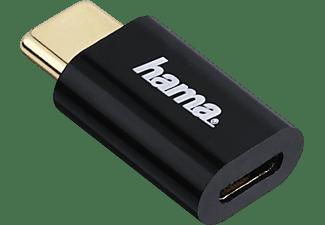 HAMA Adapter Micro-USB auf USB Type-C-Stecker, Schwarz