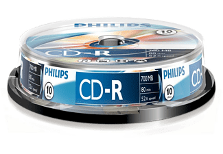 PHILIPS Pack 10 CD-R 700 MB 52 x (CR7D5NB10)