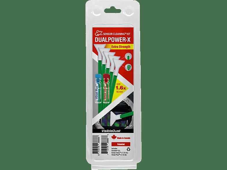 VISIBLE DUST DUALPOWER-X 1.6x Extra Strength MXD100 Green Swab Reinigungsset, Mehrfarbig
