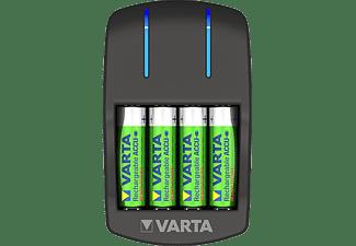 VARTA Ladegerät Plug Charger - LED-Ladeanzeige - Sicherheitsabschaltung -  inkl. 4xAA 2100 mAh Akku