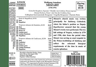 Collegium Instrumentale Brugense, Capella Brugensis - Vesperae Solennes KV 193,321+3  - (CD)