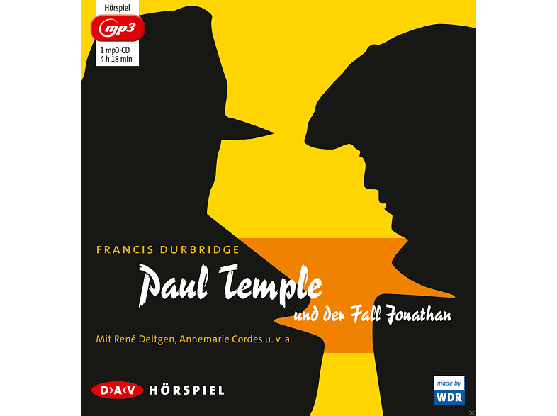 Francis Durbridge - Paul Temple und der Fall Jonathan - (MP3-CD)