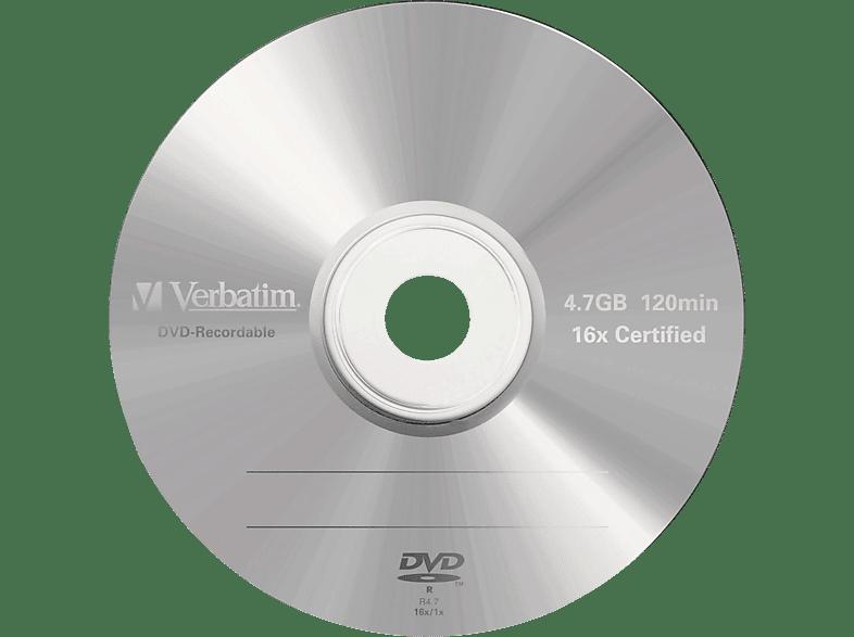 VERBATIM 43519 DVD-R 4,7GB 16X Rohling