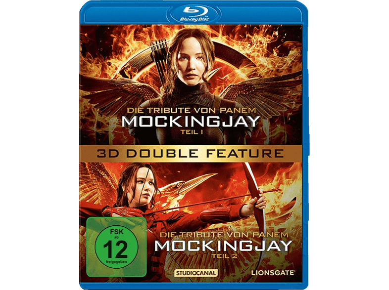 Die Tribute von Panem - Mockingjay - Teil 1+2 [3D Blu-ray]