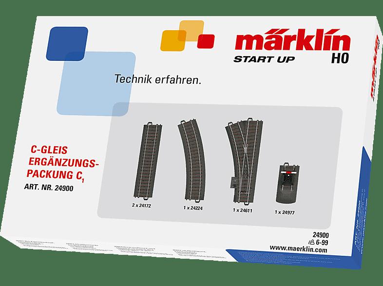 MÄRKLIN Start up C-Gleis Ergänzungspackung C1, Schwarz