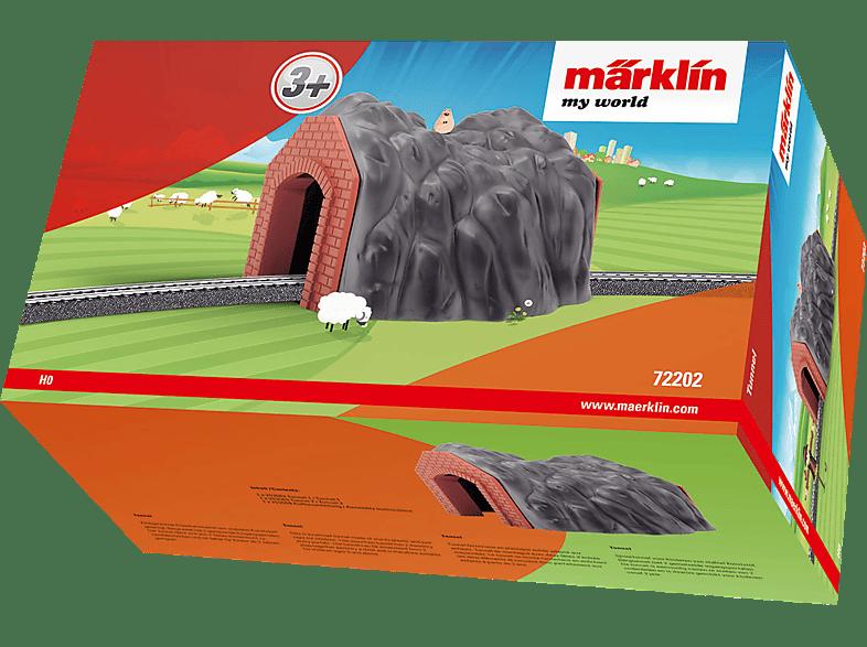 MÄRKLIN my world Eisenbahn-Tunnel, Grau/Braun