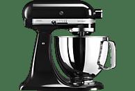 KITCHENAID 5KSM125EOB Küchenmaschine Schwarz (Rührschüsselkapazität: 4,8 Liter, 300 Watt)